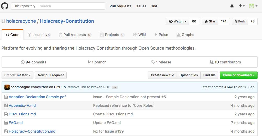 ホラクラシー憲法 GitHub